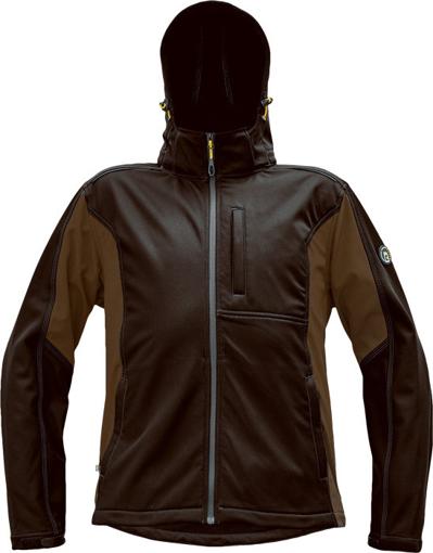 Obrázok z Červa DAYBORO Pánska softshellová bunda tm. hnedá / hnedá