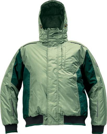 Obrázok z Červa DAYBORO PILOT Pracovná bunda zimná machovo zelená / čierna