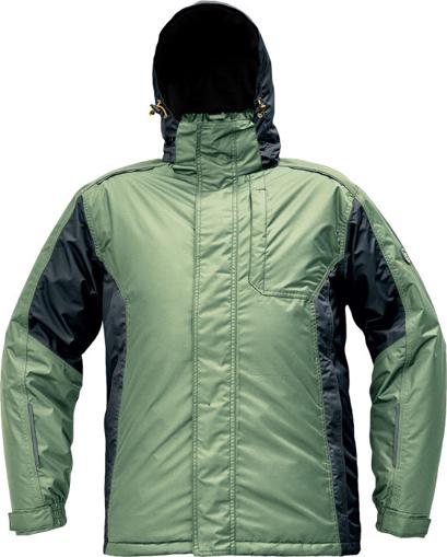 Obrázok z Červa DAYBORO Pracovná bunda zimná machovo zelená / čierna