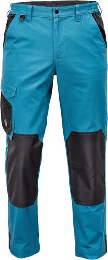 Obrázok z Červa CREMORNE Pracovné nohavice do pásu petrolejová / čierna