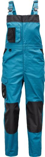 Obrázok z Červa CREMORNE Pracovné nohavice s trakmi petrolejová / čierna