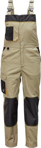 Obrázok z Červa CREMORNE Pracovné nohavice s trakmi olivová / čierna