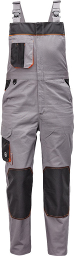 Obrázok z Červa CREMORNE Pracovné nohavice s trakmi šedá / čierna