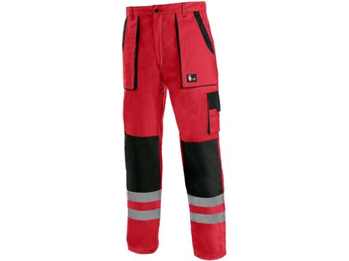 Obrázok z CXS LUXY BRIGHT Pracovné nohavice do pásu červeno / čierne