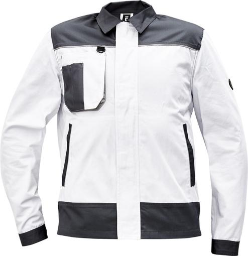 Obrázok z Cerva CREMORNE Pracovná bunda biela / šedá