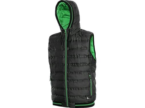 Obrázok z CXS OVERLAND Pánska zimná vesta čierno / zelená