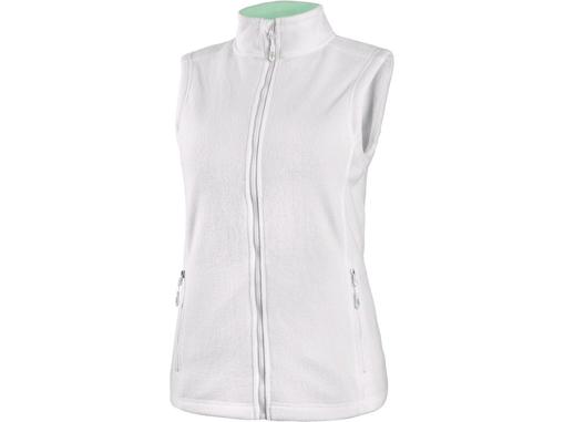 Obrázok z CXS MILFORD Dámska fleecová vesta biela