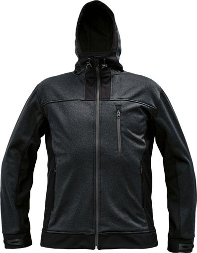 Obrázok z Cerva HUYER Pánska softshellová bunda čierna