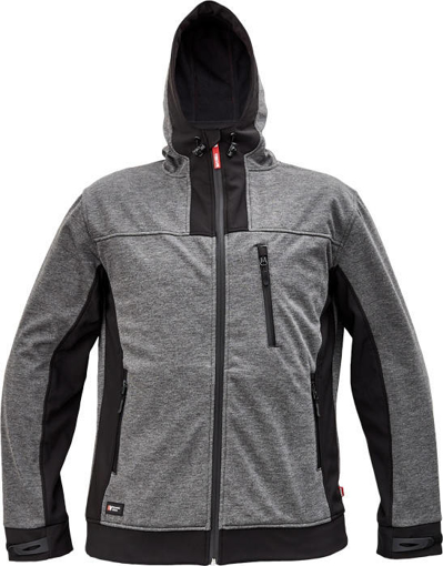 Obrázok z Cerva HUYER Pánska softshellová bunda šedá