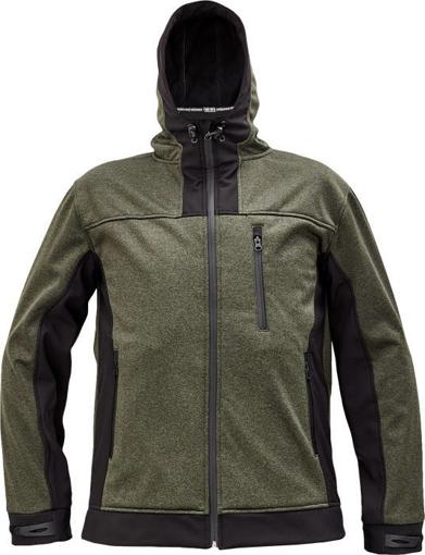 Obrázok z Cerva HUYER Pánska softshellová bunda olivová