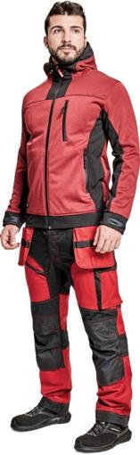 Obrázok z Cerva HUYER Pánska softshellová bunda červená