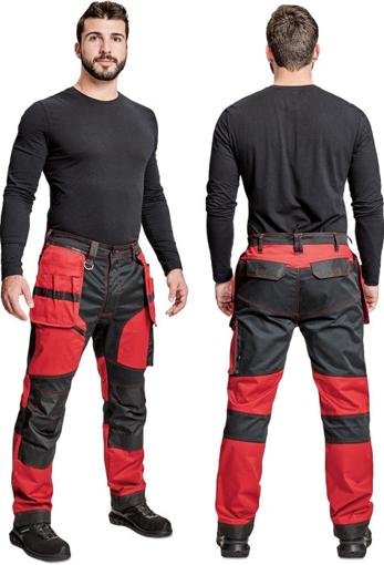 Obrázok z Cerva KEILOR Pracovné nohavice do pása červené