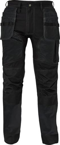 Obrázok z Cerva KEILOR Pracovné nohavice do pása čierné