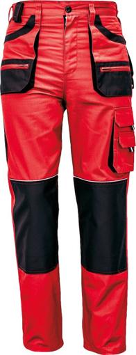 Obrázok z Fridrich & Fridrich CARL BE-01-003 Pracovné nohavice do pása červené