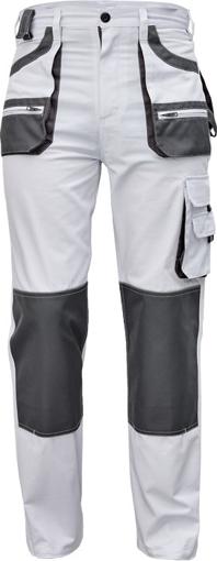 Obrázok z Fridrich & Fridrich CARL BE-01-003 Pracovné nohavice do pása biele