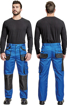 Obrázok z Fridrich & Fridrich CARL BE-01-003 Pracovné nohavice do pása modré