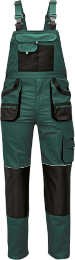 Obrázok z Fridrich & Fridrich CARL BE-01-004 Pracovné nohavice s trakmi zelené