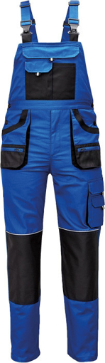 Obrázok z Fridrich & Fridrich CARL BE-01-004 Pracovné nohavice s trakmi modré