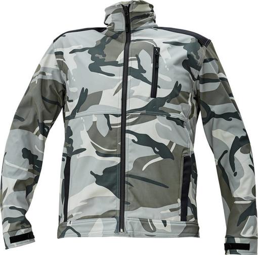 Obrázok z CRV CRAMBE Pánska softshellová bunda šedá kamufláž