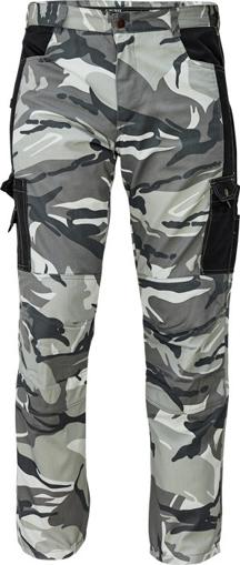 Obrázok z CRV CRAMBE Pánske nohavice do pása šedá kamufláž
