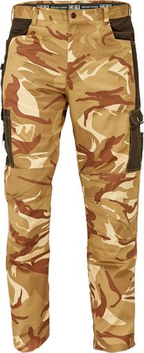 Obrázok z CRV CRAMBE Pánske nohavice do pása béžová kamufláž