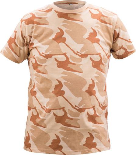 Obrázok z CRV CRAMBE Pánske tričko béžová kamufláž