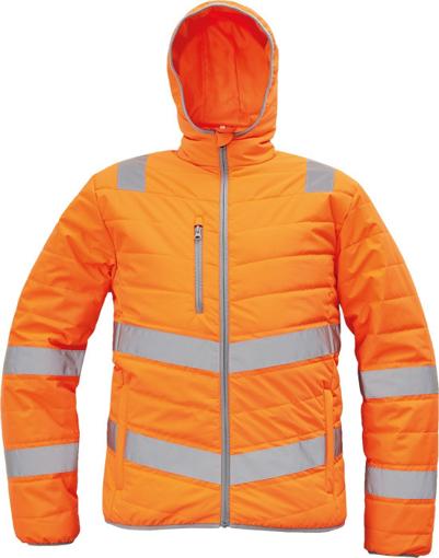 Obrázok z Cerva MONTROSE HV Reflexná zimná bunda oranžová
