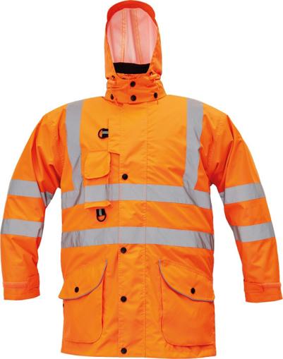 Obrázok z Cerva FORMBY HV Reflexná zimná bunda oranžová