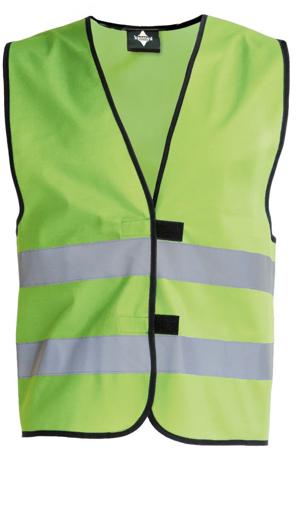 Obrázok z Korntex KW02 Reflexná vesta detská lime green