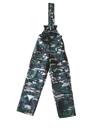 Obrázok z M+P DAVID Detské pracovné nohavice s trakmi maskáčové