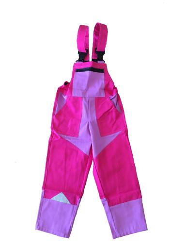 Obrázok z M+P DAVID Detské pracovné nohavice s trakmi ružové