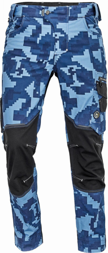 Obrázok z Cerva NEURUM CAMOUFLAGE Pracovné nohavice do pása navy