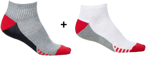 Obrázok z ARDON DUO RED Ponožky 2 páry