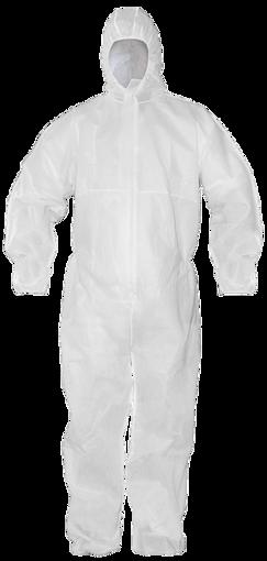 Obrázok z BOCORO Ochranný oblek biely