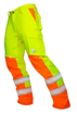 Obrázok z ARDON SIGNAL Pracovné nohavice do pása žlté skrátené