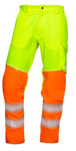 Obrázok z ARDON SIGNAL Pracovné nohavice do pása žlté predĺžené