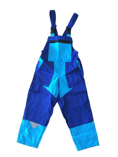 Obrázok z M+P DAVID Detské pracovné nohavice s trakmi modré