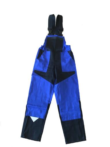 Obrázok z M+P DAVID Detské pracovné nohavice s trakmi modro / čierne