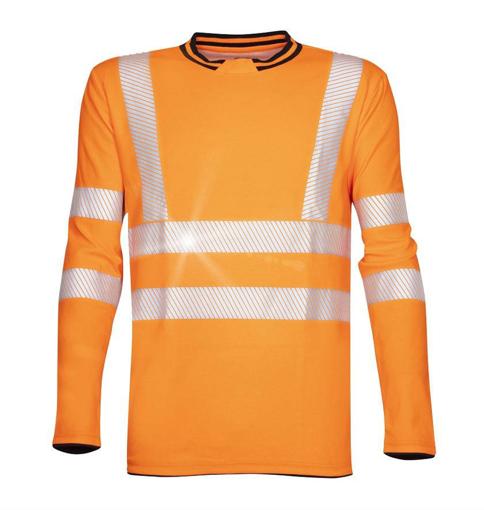 Obrázok z ARDON SIGNAL Reflexné tričko s dlhým rukávom oranžové