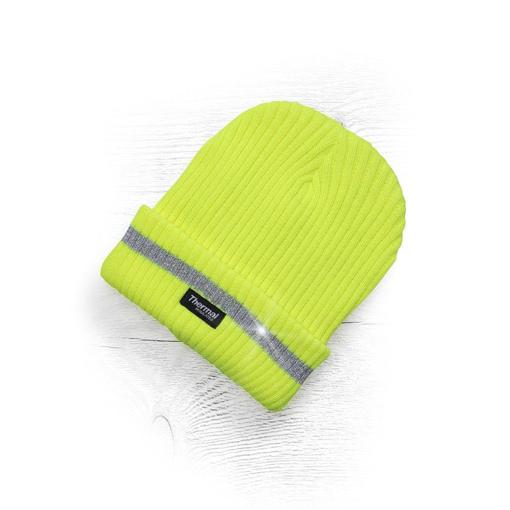 Obrázok z ADLER SPARK Zimná čiapka pletená + fleece hi-viz žltá
