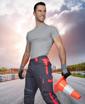 Obrázok z ARDON NEON Pracovné nohavice do pásu šedo-červené