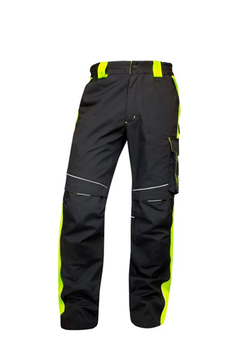 Obrázok z ARDON NEON Pracovné nohavice do pása čierno-žlté skrátené