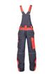 Obrázok z ARDON NEON Pracovné nohavice s trakmi šedo-červené