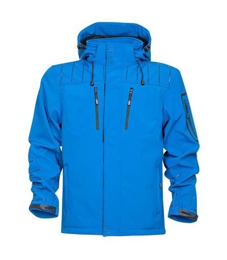 Obrázok z 4TECH Pánska softshellová bunda modrá