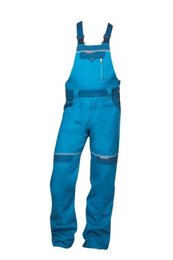 Obrázok z COOL TREND Pracovné nohavice s trakmi stredne modré predĺžené