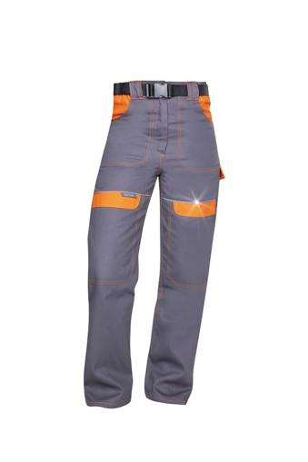 Obrázok z COOL TREND Dámske pracovné nohavice do pásu šedo / oranžové