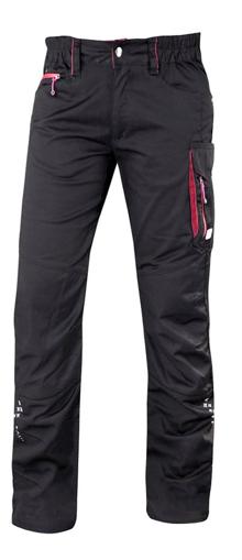 Obrázok z ARDON FLORET Dámske pracovné nohavice do pása čierno / ružové