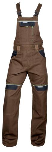Obrázok z COOL TREND Pracovné nohavice s trakmi hnedé skrátené