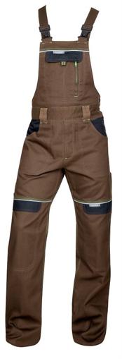 Obrázok z COOL TREND Pracovné nohavice s trakmi hnedé predĺžené