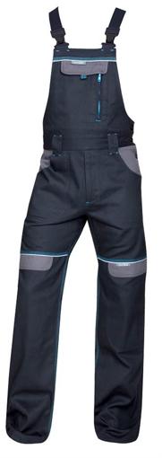 Obrázok z COOL TREND Pracovné nohavice s trakmi čierne skrátené